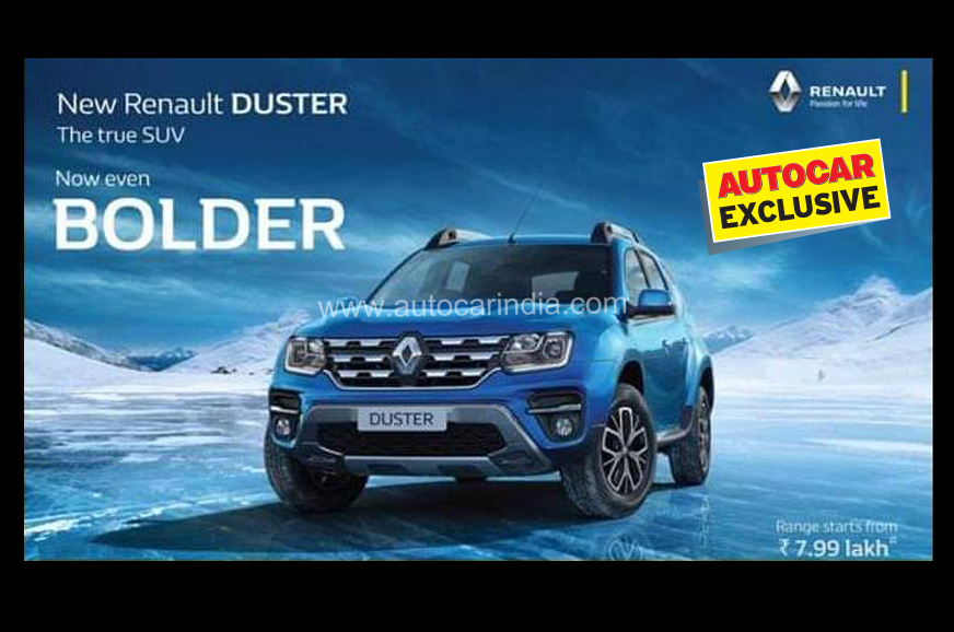 Renault Duster Facelift Price To Start From Rs 7 99 Lakh