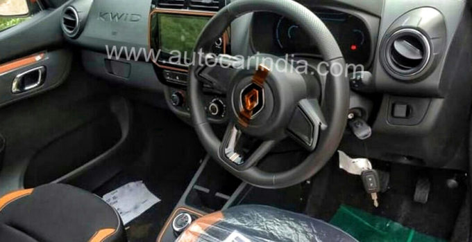 New Renault Kwid Facelift Images Reveal Interior Details