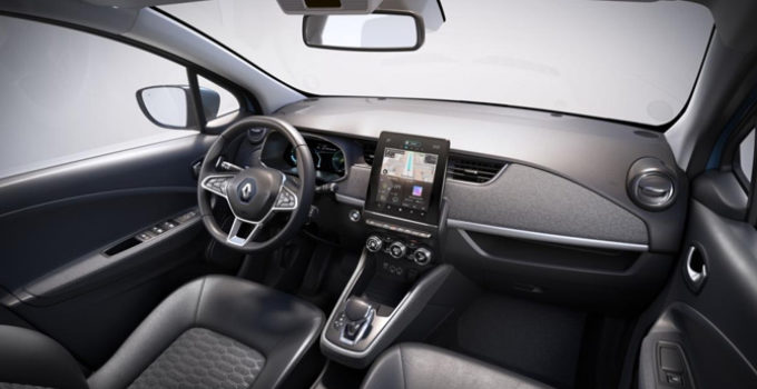 New Renault Zoe Interior In Scorrier Summercourt